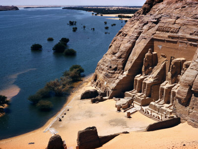 Ramses Temple and the Nile Shoreline at Abu Simbel