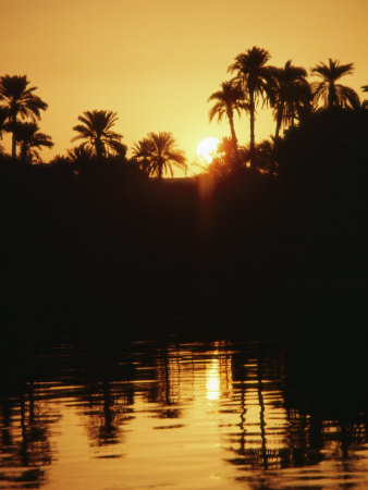 Sunrise over the Nile River