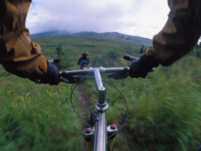 Expedition Members Pedal Their Way Through Lake Clark National Park, Alaska