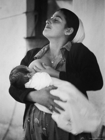 Israeli Mother Breast Feeding Her Baby