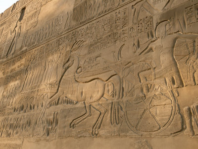 A View of Hieroglyphics on the Wall of Karnak Temple