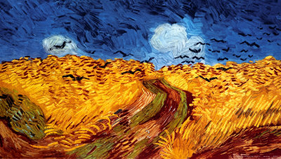 Wheatfield with Crows, c.1890 - Art Print