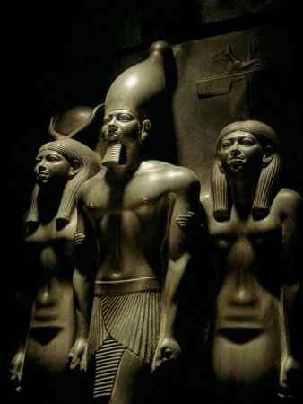 Pharaoh Menkaure with Two Goddesses, Egyptian Museum, Cairo, Egypt