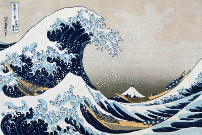 The Great Wave at Kanagawa (from 36 views of Mount Fuji), c.1829 Art Poster