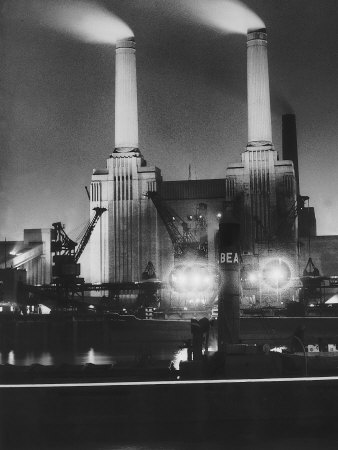 Coal Ships unload at Battersea, 1950