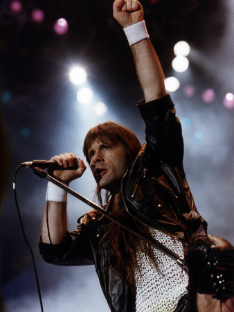 Bruce Dickinson Who Was The Former Lead Singer For Iron Maiden The Heavy Metal Group..