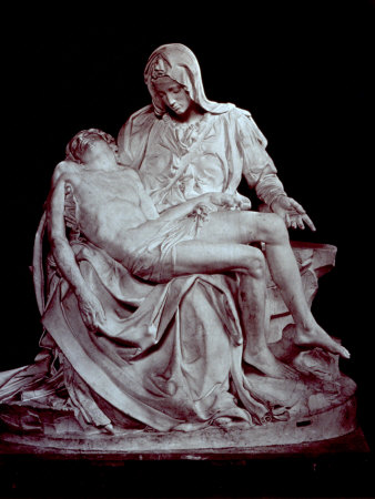 Cast of Michelangelo's 'Pieta'. the Original is in Saint Peter's in the Vatican Posters