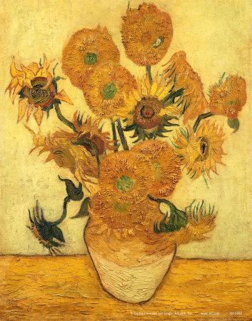 Vase of Fifteen Sunflowers, c.1889 Art Print