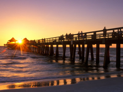 Naples Pier Sunset, Naples, Florida, USA