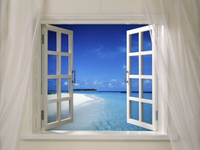 Beach Beckoning Through Open Window