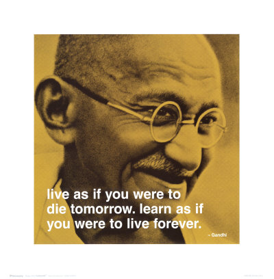 Gandhi: Live and Learn Art Print