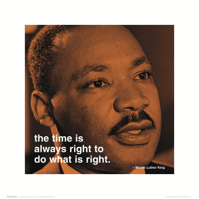 Martin Luther King, Jr.: Right Art Print