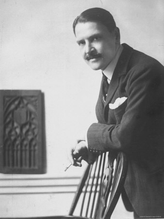 Portrait of English Novelist and Dramatist William Somerset Maugham by Photographer E. O. Hoppe