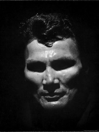 Portrait of Actor Jack Palance Looking Like a Jack O' Lantern