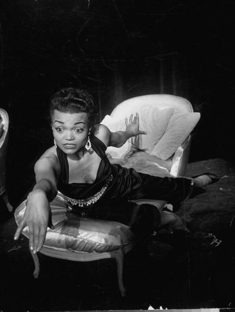 Eartha Kitt, Sitting on Chaise in Scene from New Faces Premium Photographic Print