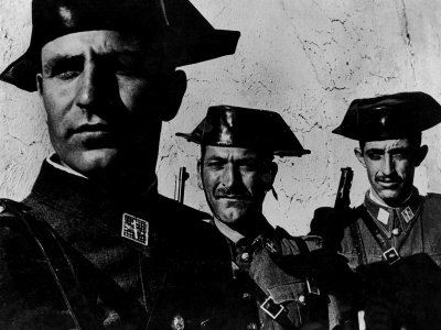 Members of Dictator Franco's Feared Guardia Civil in Rural Spain, from Essay