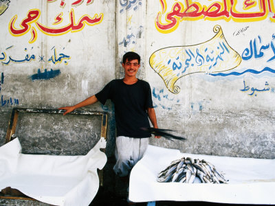 Vendor at Fish Market, Baghdad, Iraq