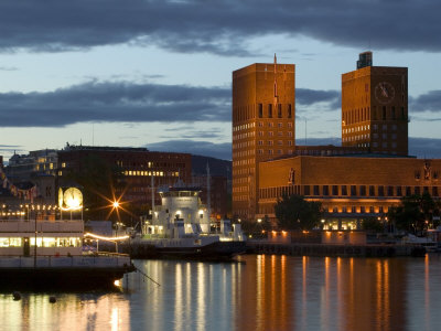 Town Hall from Aker Brygge, Norway