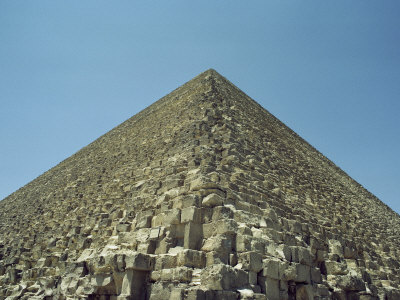 A View from the Base of One of Egypts Great Pyramids