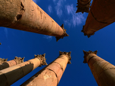 Columns at Temple of Artemis, Jerash, Jordan