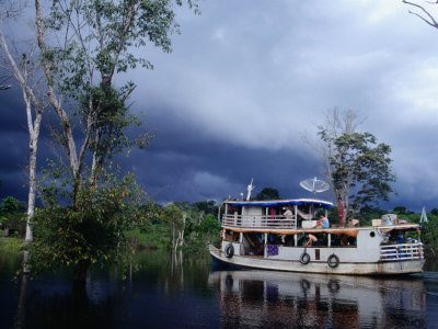 Amazon Riverboat Near Porto Velho, Porto Velho, Rondonia, Brazil