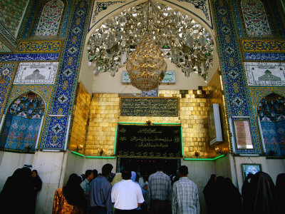 Worshippers at Shrine of Sayyd Mohammid Balad, Balad, Salah Ad Din, Iraq