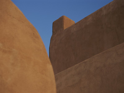 Close View of an Adobe Structure in Downtown Santa Fe
