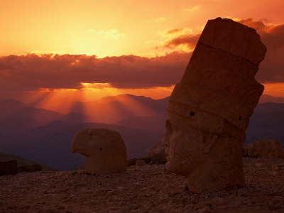 Sunset, Temple of King Antichus, Turkey