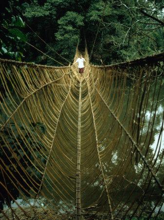 A Vine Bridge Resembling a Spiders Web Near Mamfe, Mamfe, Sud-Ouest, Cameroon