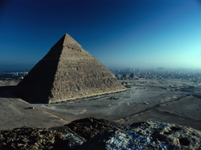 Pyramid of Chephren from Top of Pyramid of Mycerinus Giza, Egypt