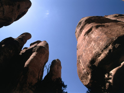 Rock Formations in Fiery Furnace Area, Arches National Park, Utah, USA