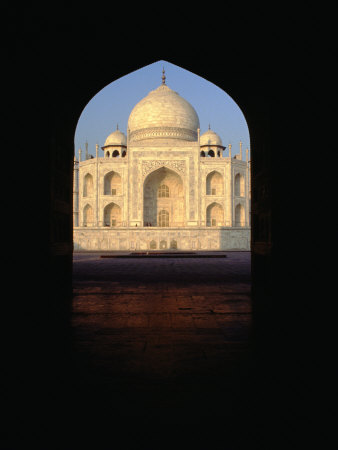 Taj Mahal Through Archway, Agra, Uttar Pradesh, India