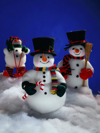 Three Christmas Snowmen