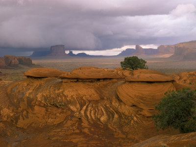 Mystery Valley with Approaching Storm, Arizona, USA