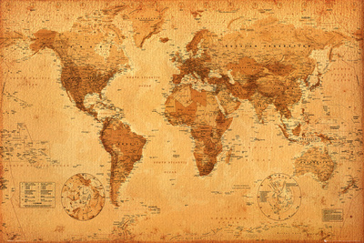 World Map College Poster