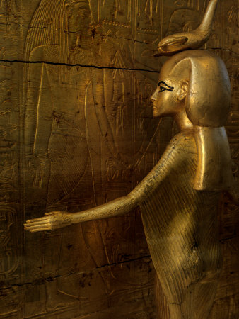 Detail of Goddess Selket, Pharaoh Tutankhamun, Egyptian Museum, Egypt