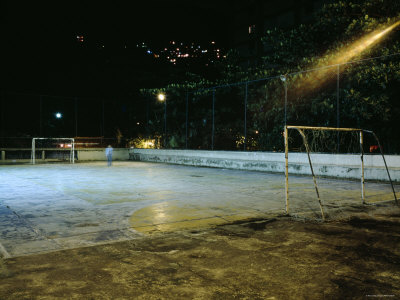 Buy Soccer field Lit Up at Night, Rio de Janeiro, Brazil at AllPosters.com