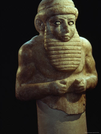 A Sumerian Carved Figurine Dating from 3000 B.C.