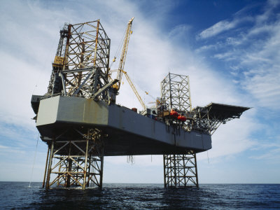 An Oil and Gas Drilling Platform in the North Atlantic off the Coast of Sable Island