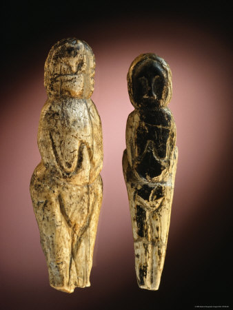 Eleven Thousand-Year-Old Mammoth Ivory Figures from Malta, Siberia