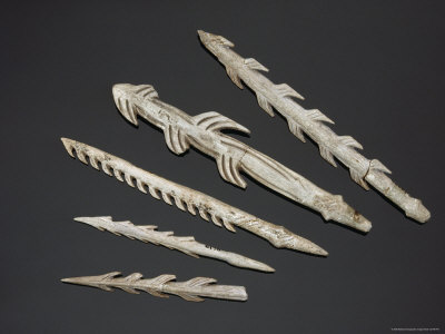 Eleven Thousand Years Ago, Harpoon Heads Like These were Hafted to Wooden Shafts