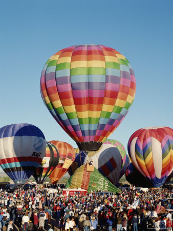 Colorful Hot Air Balloons, Albuquerque Balloon Fiesta, Albuquerque, New Mexico, USA