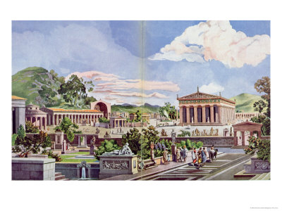 Olympia in the Classical Era, 1914 Giclee Print