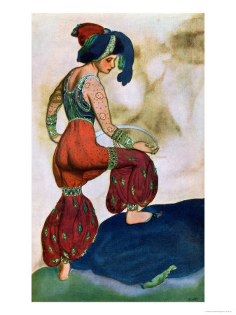 Costume Design For the Red Sultan, from Sheherazad