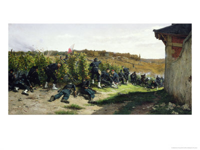 The Tirailleurs de La Seine at the Battle of Rueil-Malmaison, 21st October 1870, 1875 Giclee Print