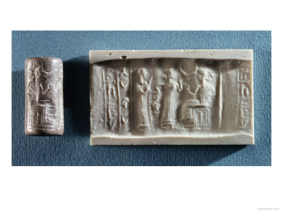 Cylinder Seal Depicting an Evocation to the Cult of Elam