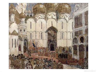 Stage Design For Boris Godunov by Musorgsky, 1908