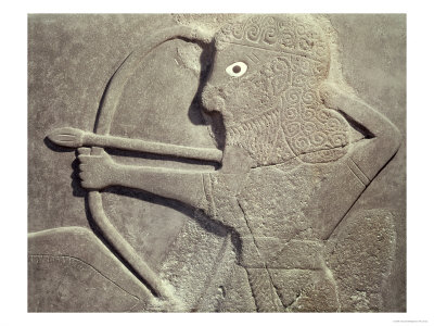 Relief Depicting a Hunter, from Tell-Halaf, Syria