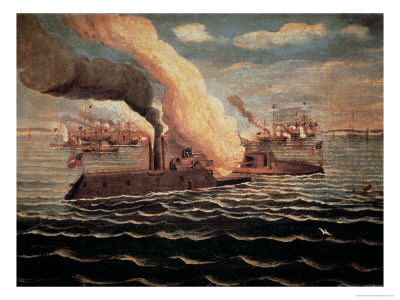 The USS Monitor.