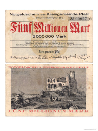 Inflation 1923: Fünf Millionen Mark ...